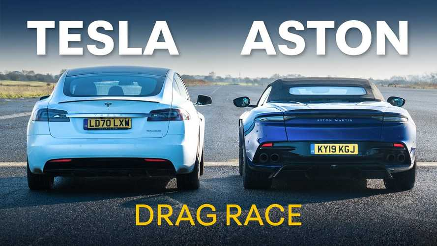 Tesla Model S Performance Faces Aston Martin DBS In Quarter-Mile Race