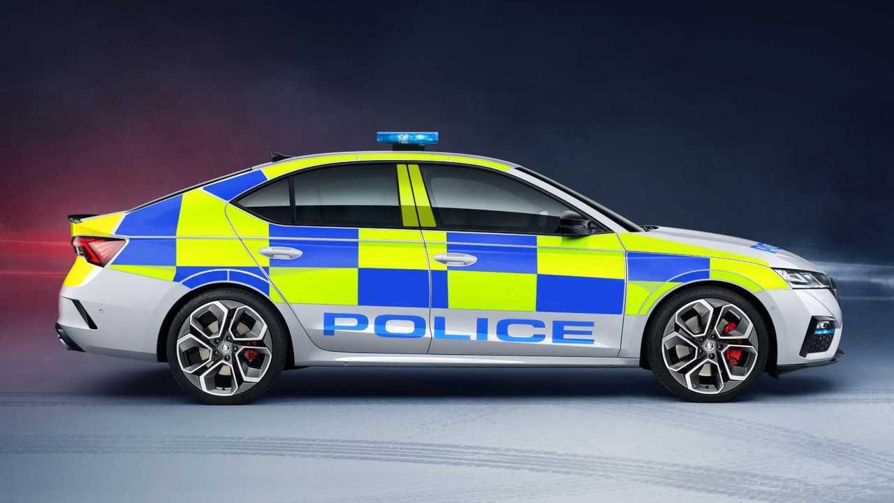 2021 Skoda Octavia vRS police car