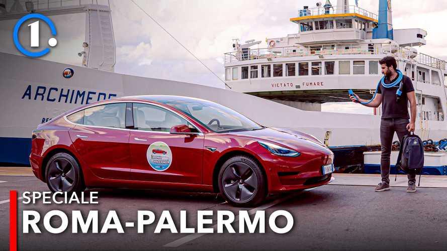 Da Roma a Palermo in auto elettrica. Il reportage di 2.000 km di viaggio