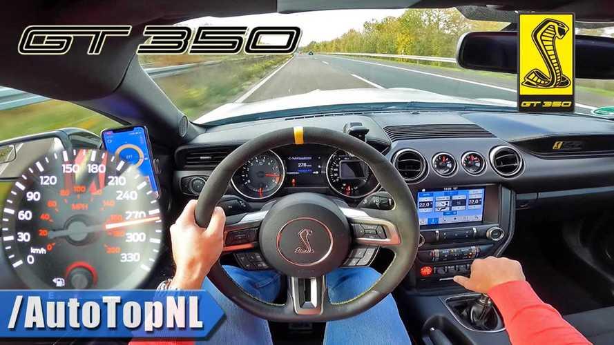 Así suena el espectacular V8 del Mustang Shelby GT350 en una Autobahn