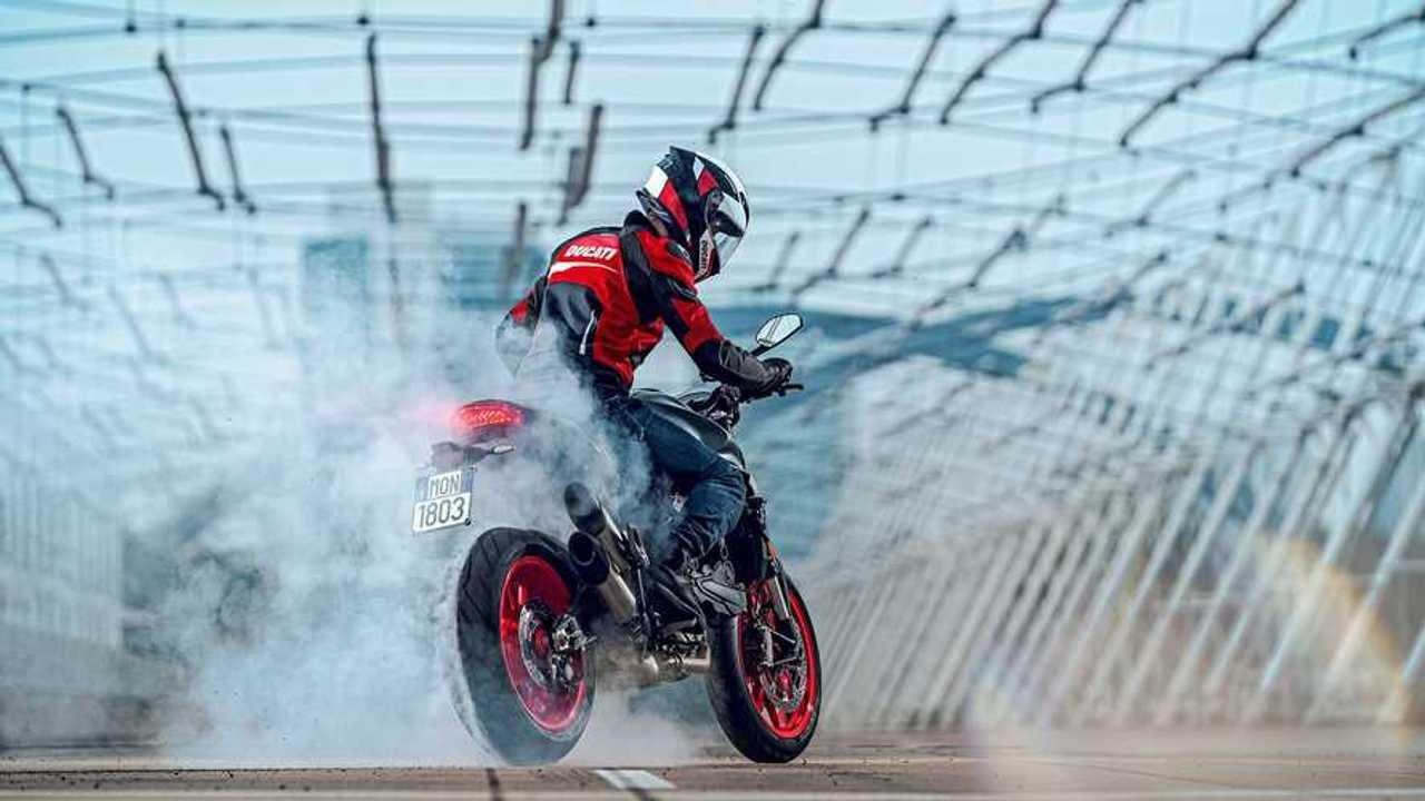 2021 Ducati Monster Burnout