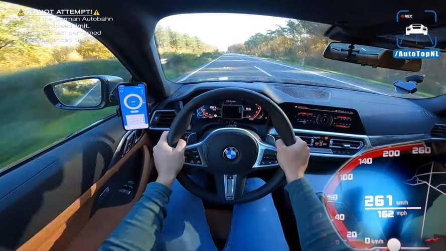 BMW 4 Series Coupe M440i Tests Its Top Speed Limiter On The Autobahn