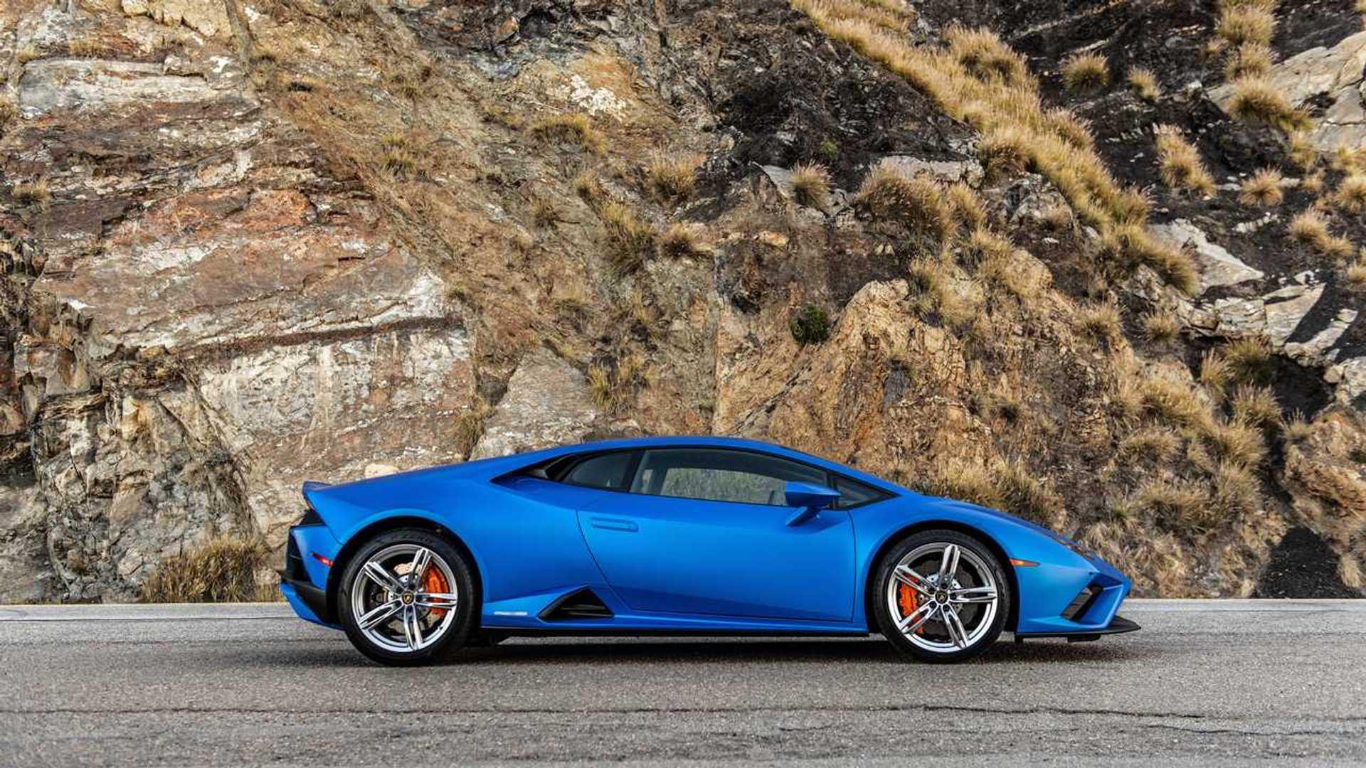 2020 Lamborghini Huracan Evo RWD profile static