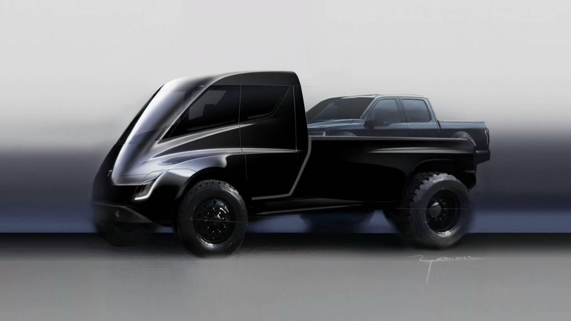 Resultado de imagem para pick-up da Tesla