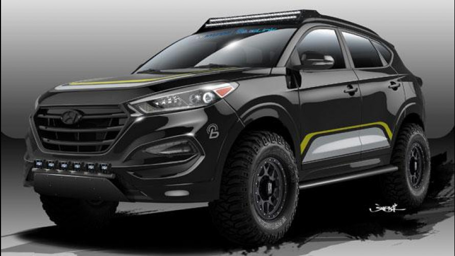 [Copertina] - Hyundai Tucson, Rockstar la trasforma per il SEMA