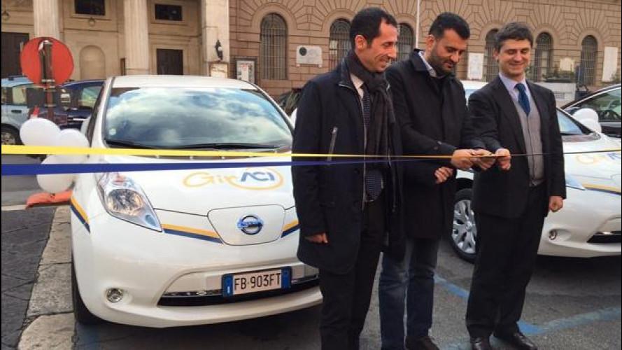 Nissan Leaf, car sharing 100% elettrico a Bari