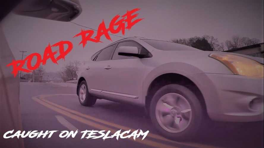 TeslaCam Captures Crazy Road-Rage Situation