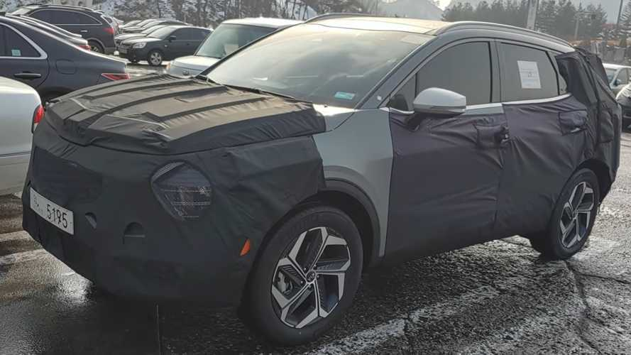 2022 Kia Sportage spied up close hiding quirky styling