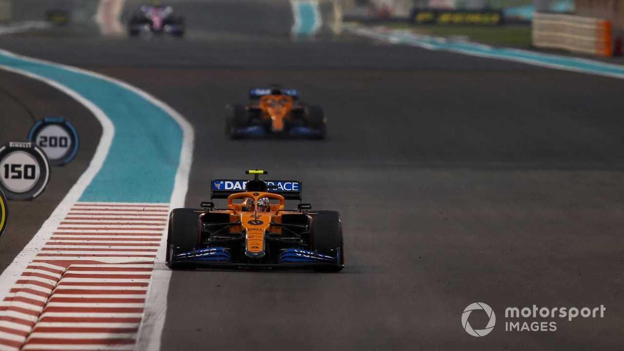 Lando Norris and Carlos Sainz Jr at Abu Dhabi GP 2020