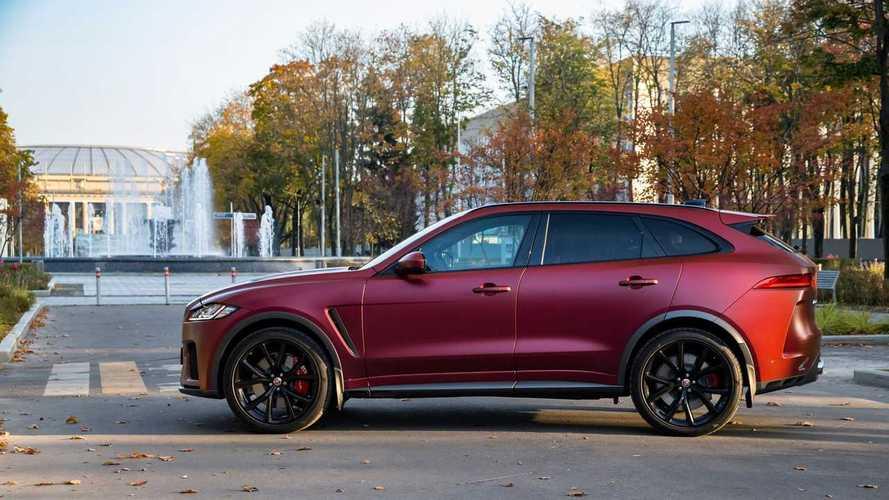 Jaguar F-Pace SVR на тесте «Ребенок в машине»