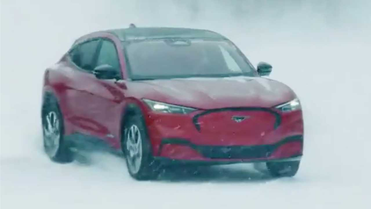 Ford F-150 BEV And Mustang Mach-E Make Snow Angels
