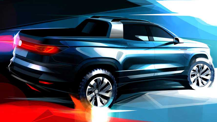 VW teases sub-Amarok pickup concept in colourful rendering
