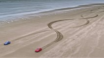 Jaguar XE recreates a DNA strand in the sand