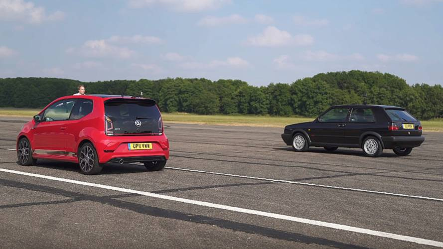 Classic VW GTI vs. New Up! GTI drag race looks slow