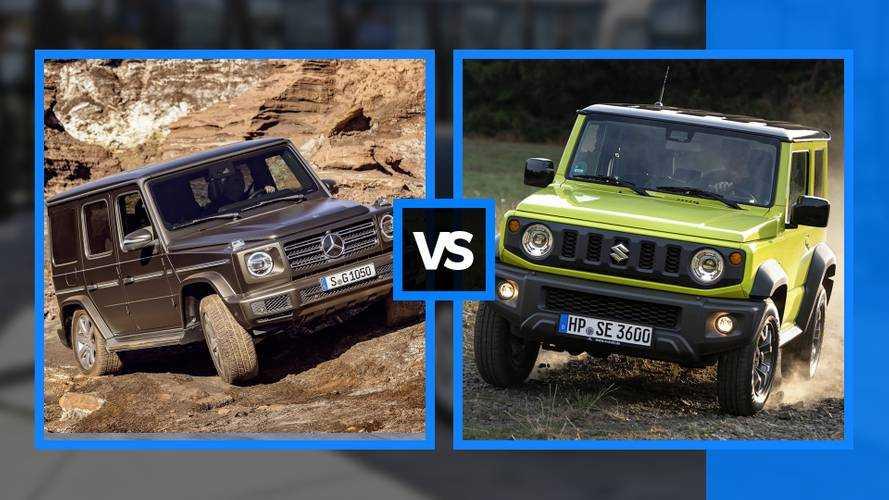 Mercedes Classe G vs Suzuki Jimny, così uguali, così diverse