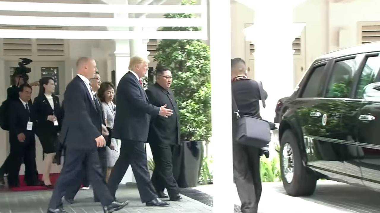 Donald Trump shows Kim Jong-Un The Beast