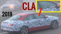 2020 Mercedes CLA screenshots from spy video
