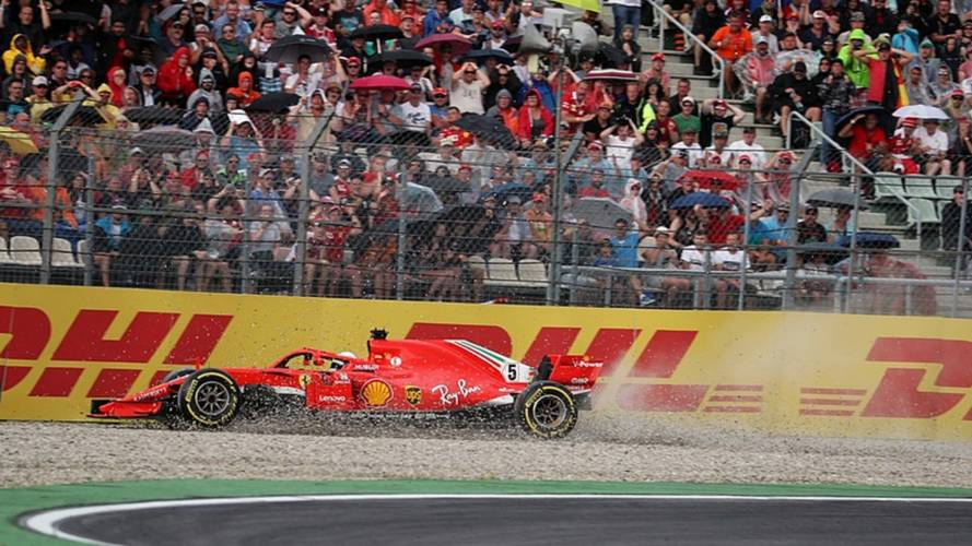 El accidente de Vettel en el GP de Alemania 2018