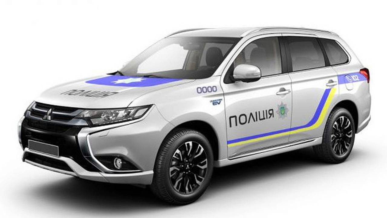 Ukraine National Police Force Mitsubishi Outlander PHEV