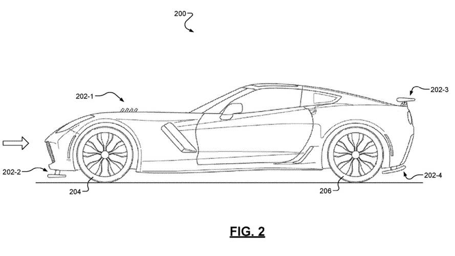 Chevrolet Active Aero Patent Image Of Corvette