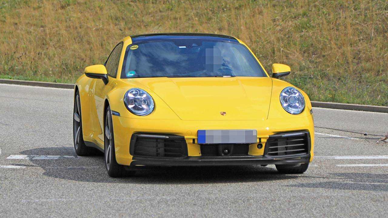 Porsche 911 (2019) ungetarnt erwischt