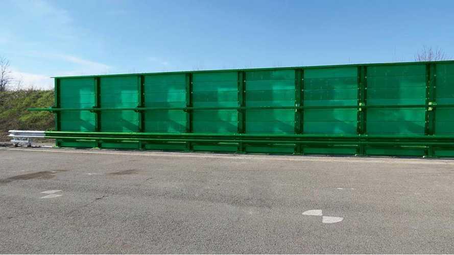 Pioneering barriers will reduce motorway noise pollution