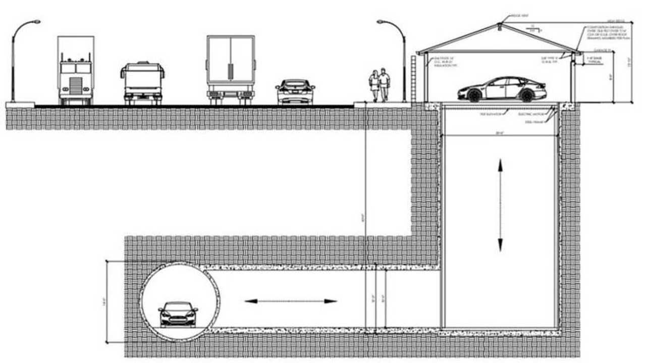 Boring Tunnel Garage