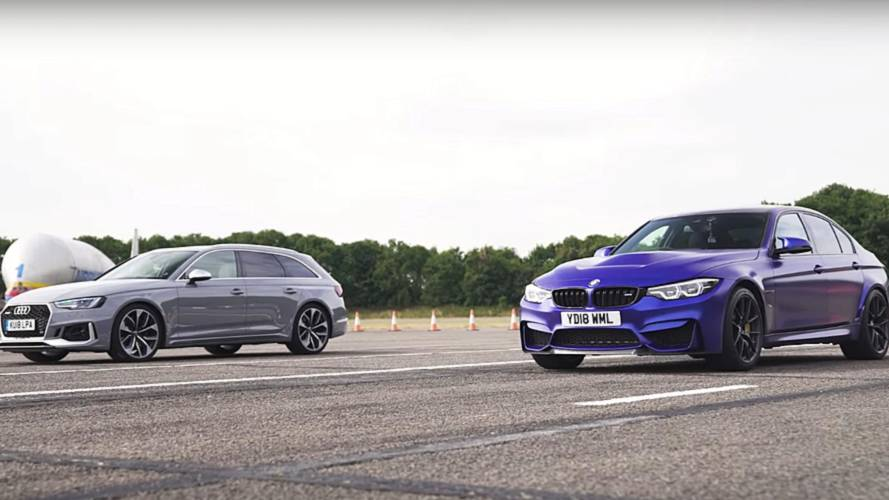 Estate vs Saloon: BMW M3 CS drag races Audi RS4 Avant