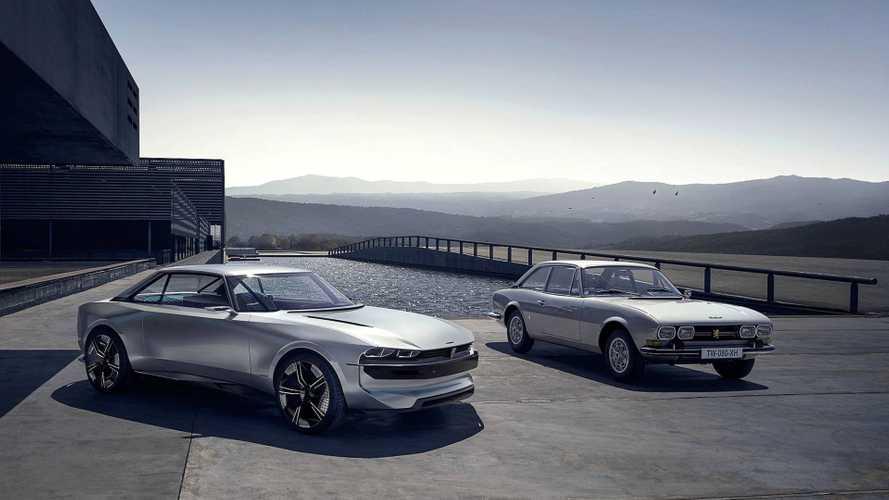 Retro-tastisches Peugeot e-Legend Concept ist Hommage an das 504 Coupé