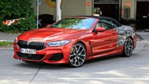Kırmızı Renkli BMW 8 Serisi Convertible Prototipi
