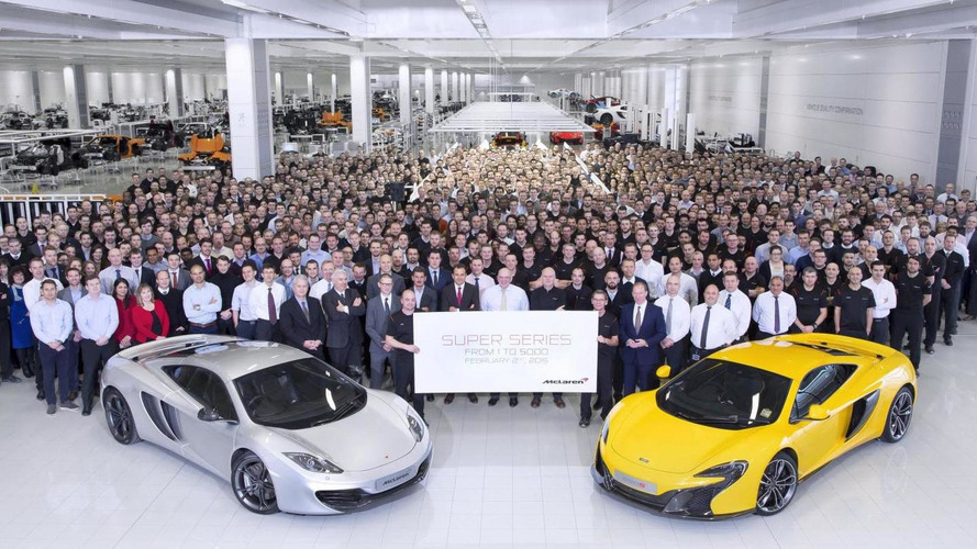 McLaren builds their 5,000th Super Series model