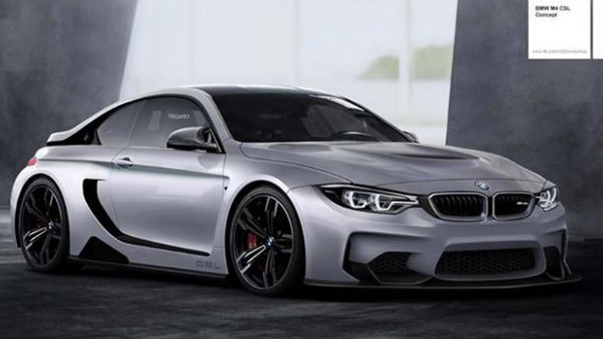 Bmw M4 Csl Vision Concept Rendered Hints A Lightweight M4