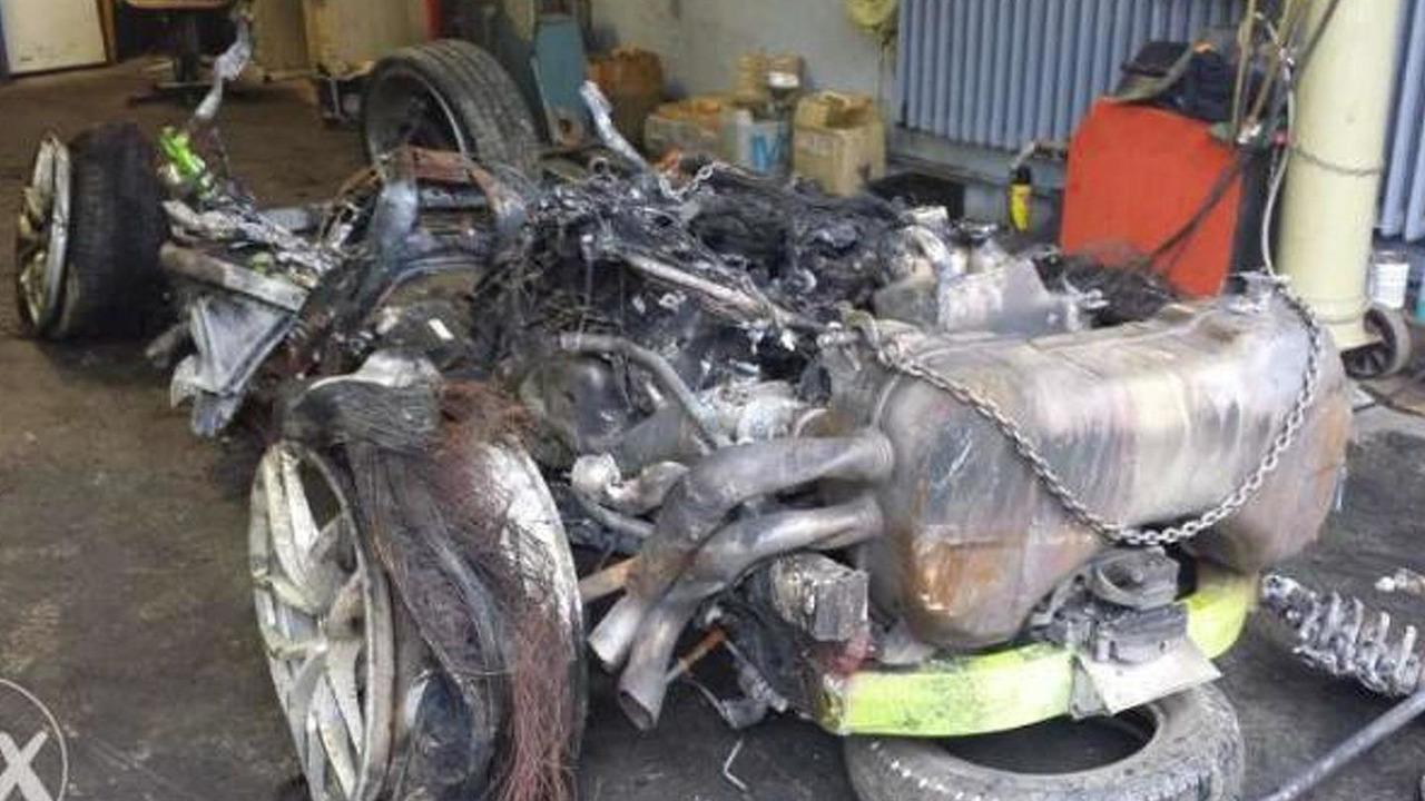 Lamborghini Huracan totaled
