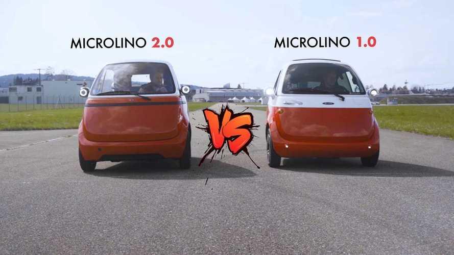 Microlino 2.0 und Microlino 1.0: Elektro-Isettas im Drag Race