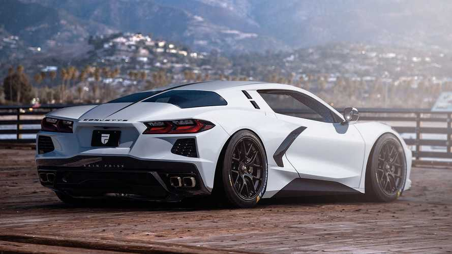 Corvette C8 Gets Sleek Split-Window Design In Unofficial Rendering