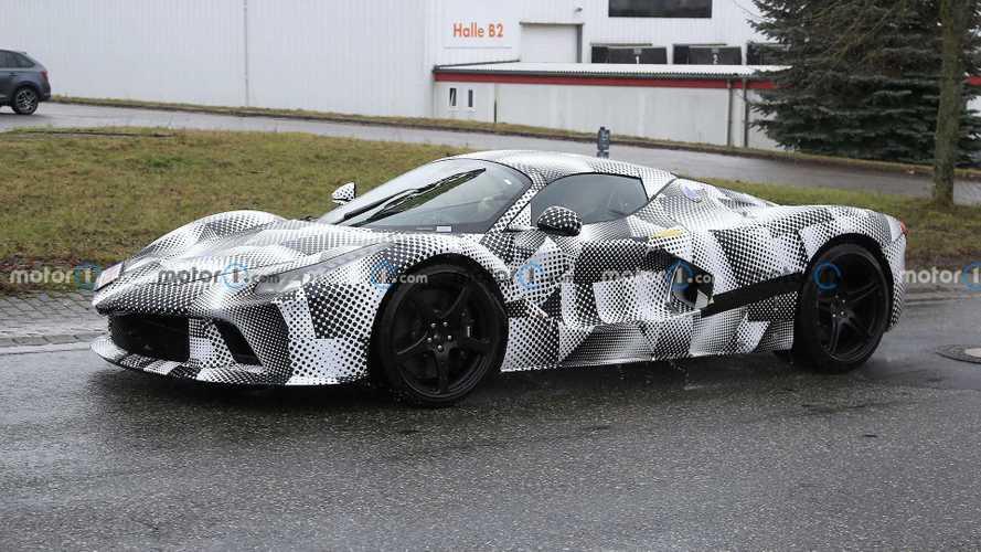 New Ferrari Hypercar Spied Hiding Underneath LaFerrari Test Mule