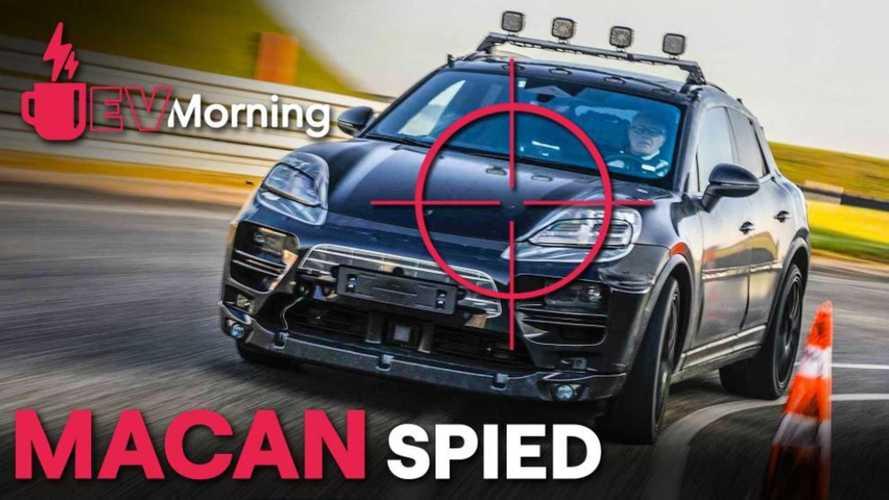 EV Morning: Porsche Macan EV Spied, Ioniq 5 Priced, Plus More