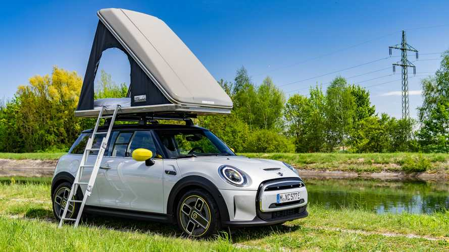 Go Emissions-Free Camping In A Mini Cooper SE With New Roof Tent