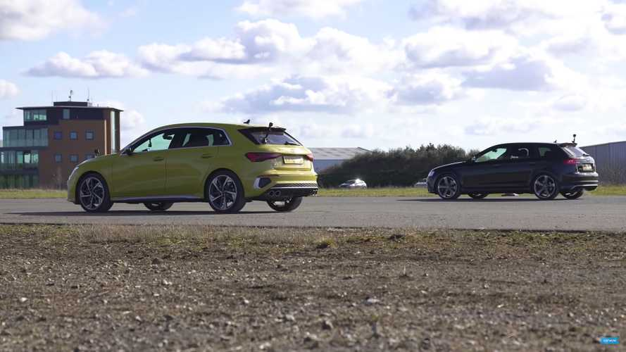 New Audi S3 Vs Old Audi RS3 Hot Hatch Drag Race Is Crazy Close