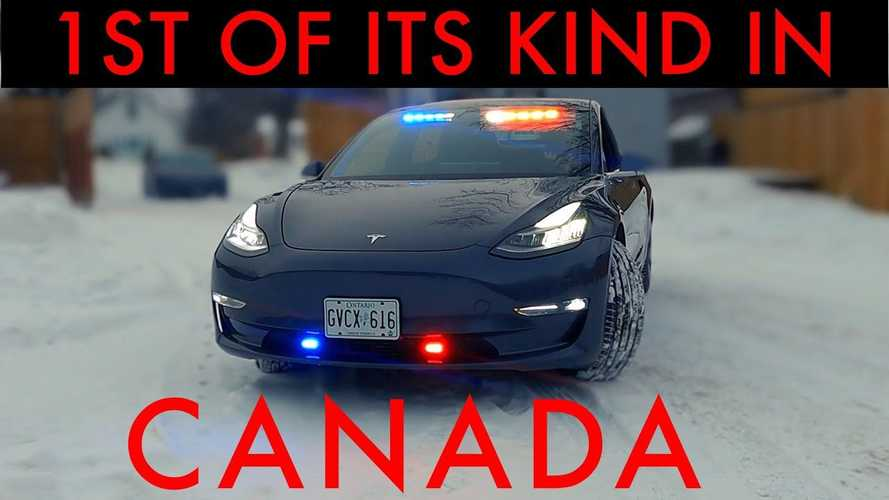 Is This Canada's First Tesla Model 3 Police Car?