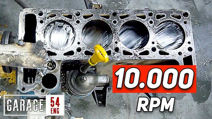 Lada Engine Spinning At 10,000 RPM Loves To Launch Pistons