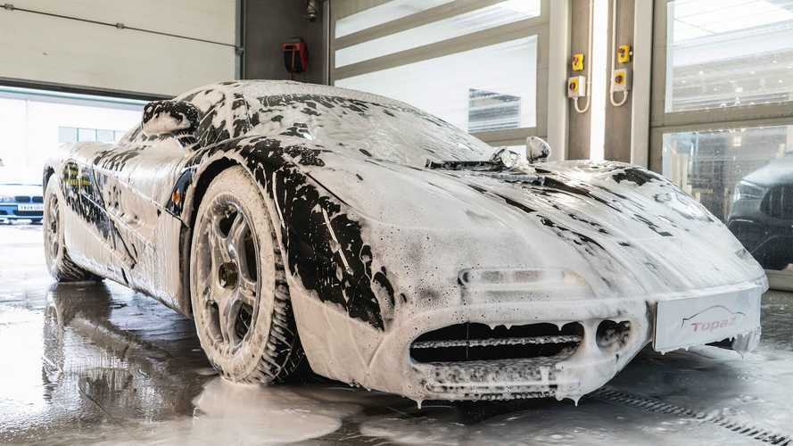 Watch McLaren F1 get the most luxurious car wash you've ever seen