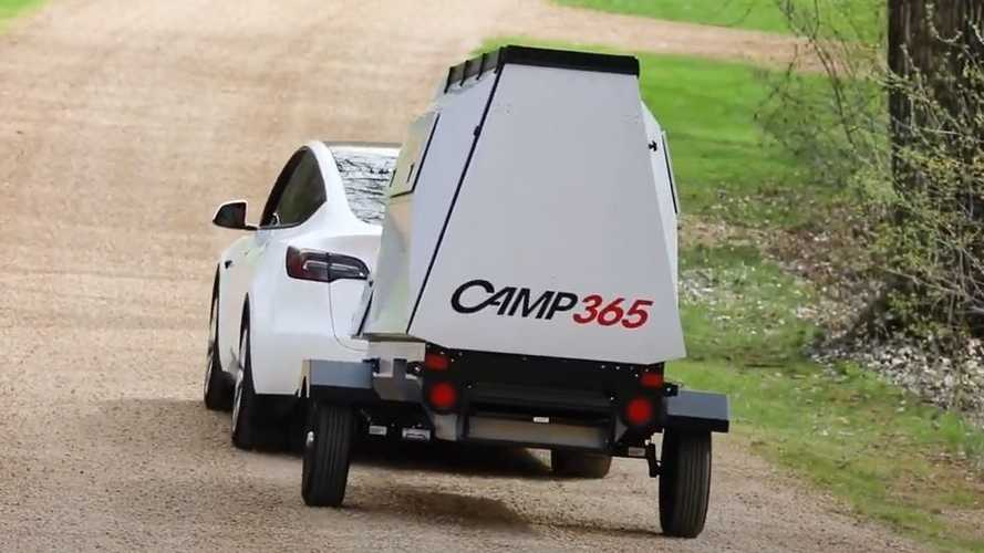 Tesla Model Y Camp365 Camper Towing Range Test