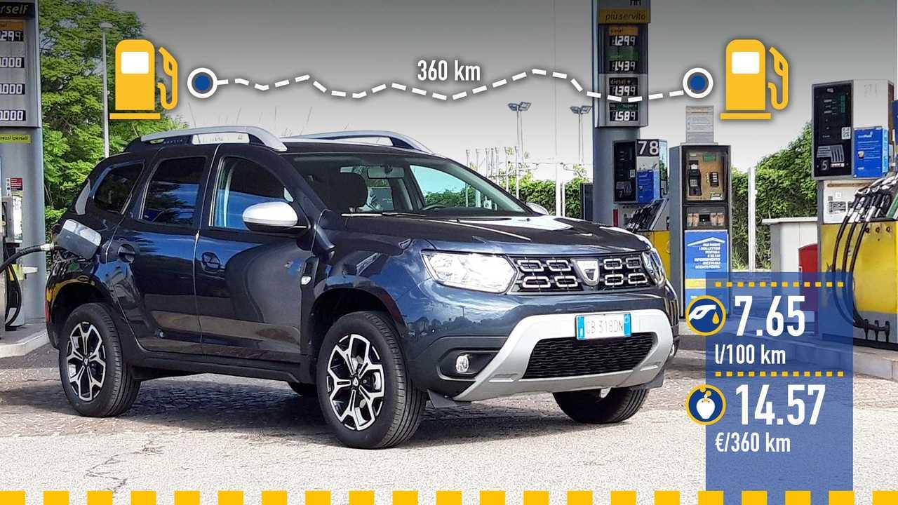 Dacia Duster 1.0 GPL, la prova consumi
