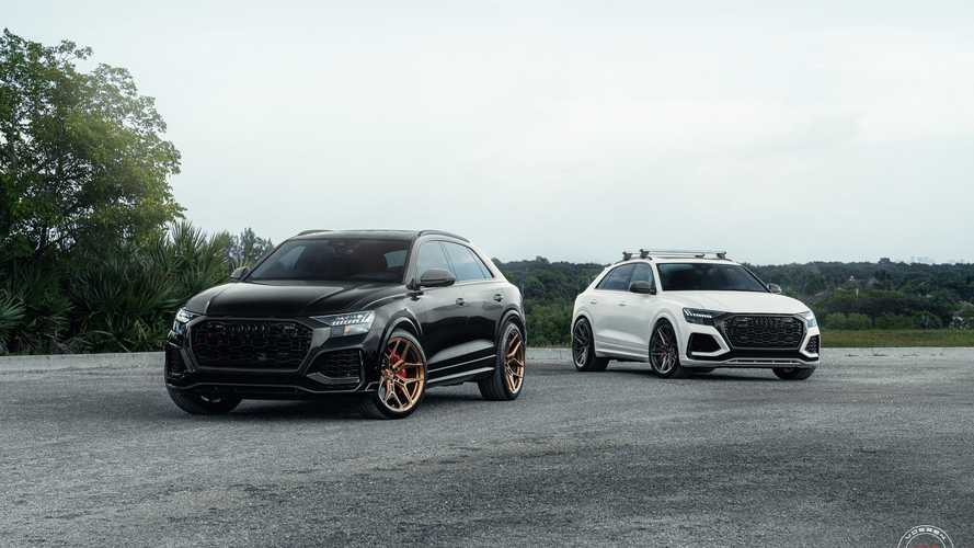 Two Audi RS Q8s slammed, fitted with new shoes courtesy of Vossen