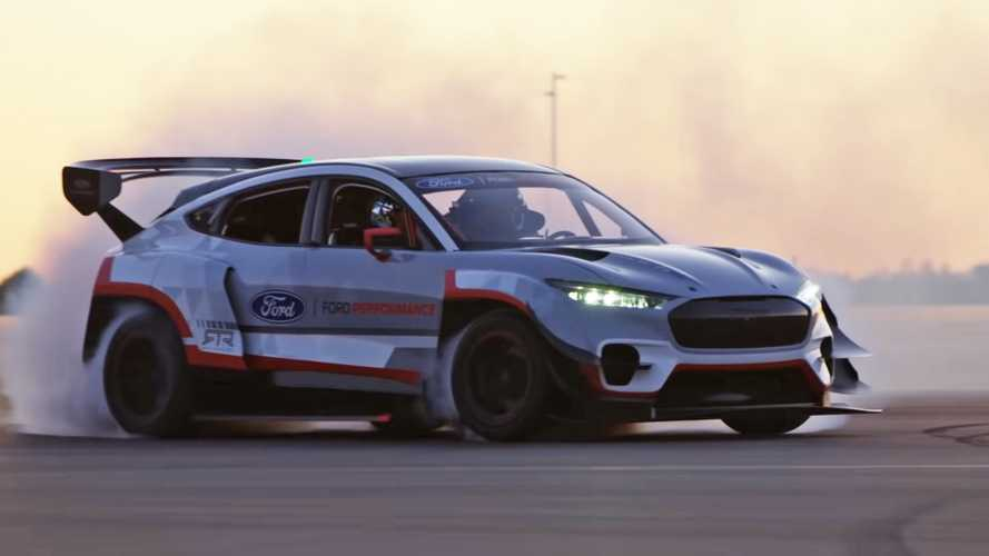 Ken Block Can't Say No To Drifting The Ford Mustang Mach-E 1400