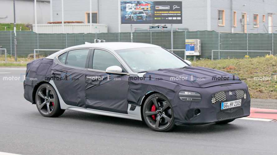 Genesis G70 Facelift Spied With Split Headlights And Taillights