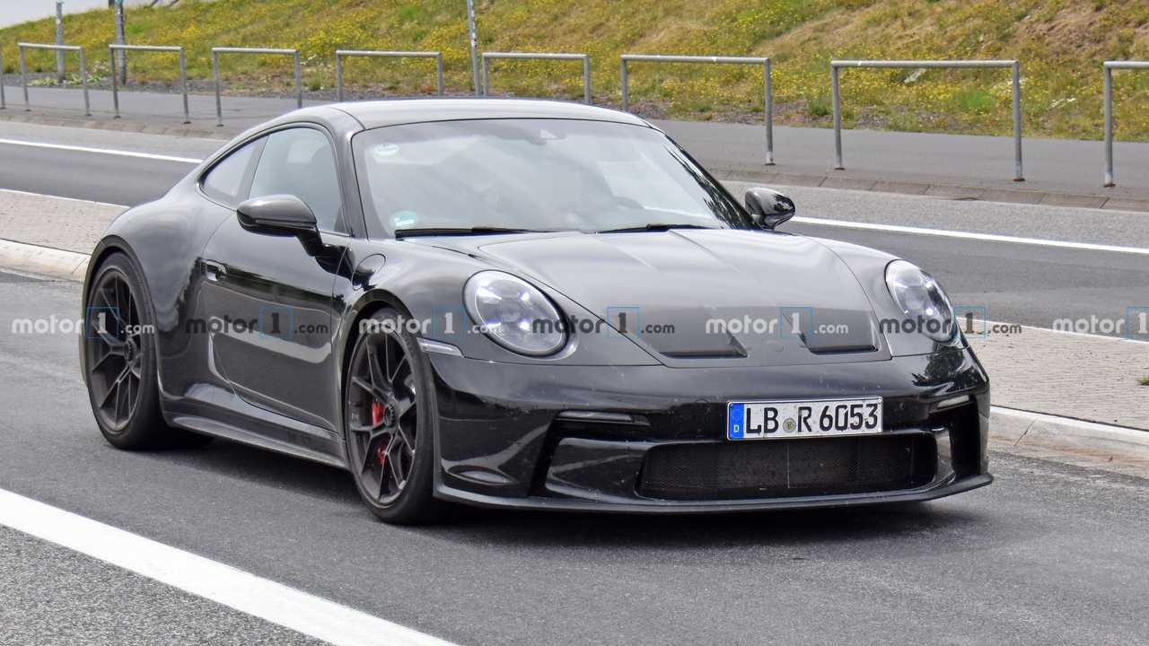 Porsche 911 GT3 Touring plan espion (vue de face)
