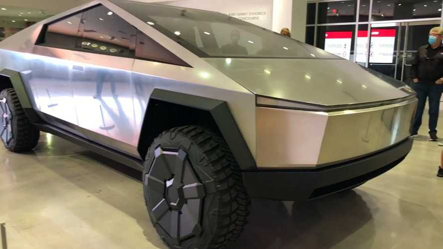 Tesla Cybertruck Looks Stunning At Petersen Automotive Museum: Videos Galore