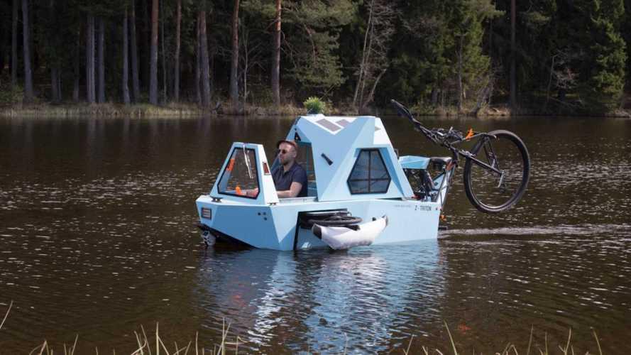 Assurdo ma vero: ecco il microcamper anfibio a pedalata assistita